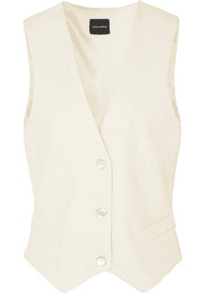Magda Butrym - Tulsa Leather And Silk-satin Vest - White
