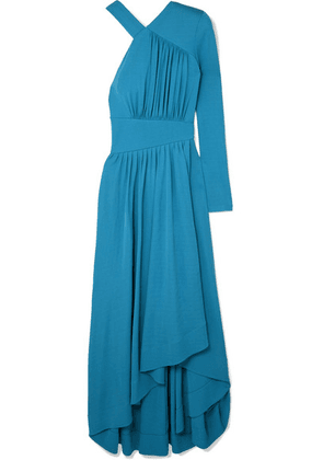 Givenchy - Asymmetric Gathered Stretch-crepe Gown - Blue