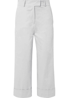Silvia Tcherassi - Beatrice Cropped Cotton-blend Wide-leg Pants - Stone