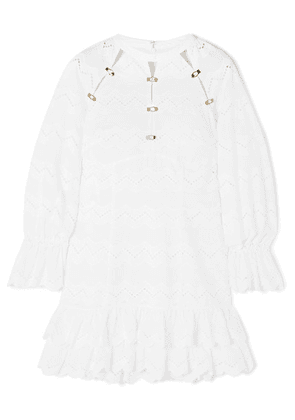 alice McCALL - Ziggy Ruffled Broderie Anglaise Cotton Mini Dress - White