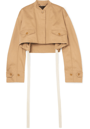 Givenchy - Cropped Cotton-drill Bomber Jacket - Beige