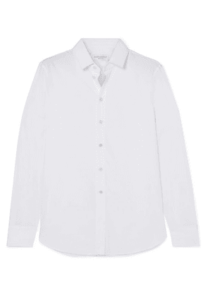SAINT LAURENT - Cotton-poplin Shirt - White