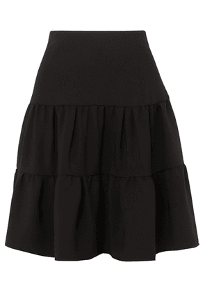 Chloé - Tiered Crepe De Chine Skirt - Black