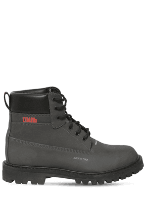 Tech & Leather Reflective Ankle Boot