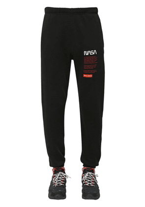 Nasa Print Slim Cotton Jersey Sweatpants
