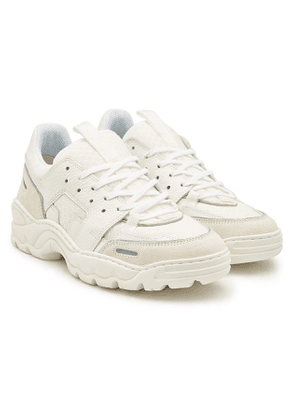ami Running Lucky 9 Leather and Mesh Sneakers