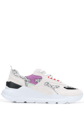 D.A.T.E. glitter lace-up sneakers - Grey