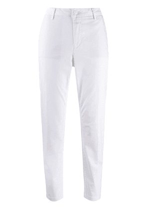 Closed slim-fit trousers - White