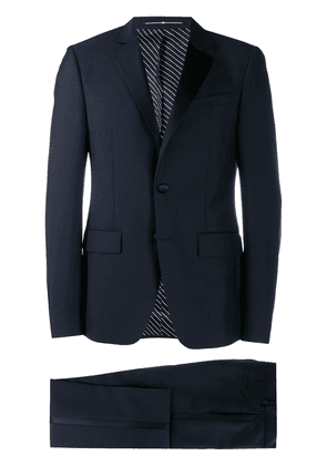 Givenchy contrasting panel two piece suit - Blue
