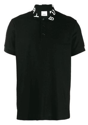 Burberry logo collar polo shirt - Black