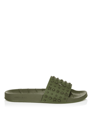 REY/M Army Star Embossed Rubber Sliders