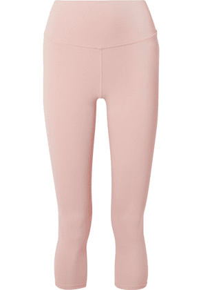 Alo Yoga - Airbrush Cropped Stretch Leggings - Pastel pink