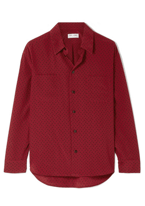 SAINT LAURENT - Printed Silk Crepe De Chine Shirt - Claret