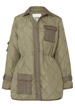 GANNI - Quilted Shell Jacket - Green