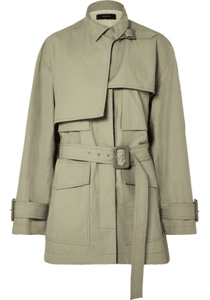 Joseph - Warrick Belted Cotton Jacket - Army green