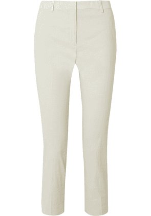 Theory - Linen-blend Straight-leg Pants - Mint