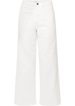 Totême - Flair High-rise Wide-leg Jeans - White