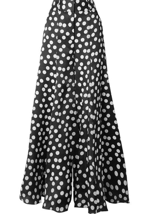 Carolina Herrera - Polka-dot Silk Crepe De Chine Wide-leg Pants - Black