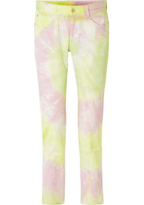 Stella McCartney - Tie-dyed Slim Boyfriend Jeans - Yellow