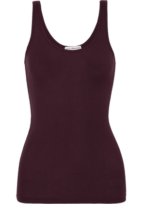 James Perse - The Daily Ribbed Stretch-supima Cotton Tank - Burgundy