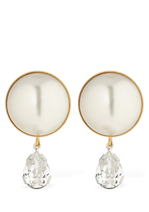 Clementina Pearl & Crystal Earrings