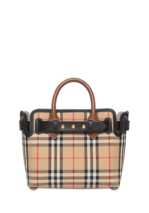 The Belt Bag Mini Check Cotton Tote