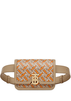 Tb Monogram Printed Leather Belt Bag