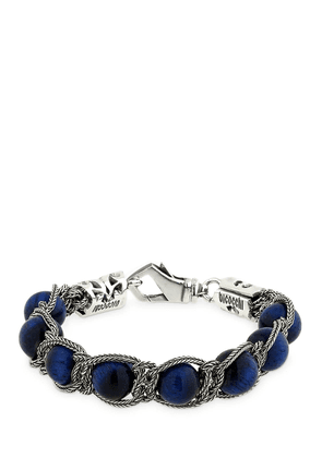Beaded Blue Tiger Eye Bracelet