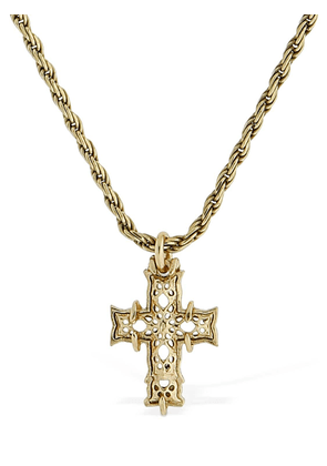 Long Notre Dame Cross Necklace