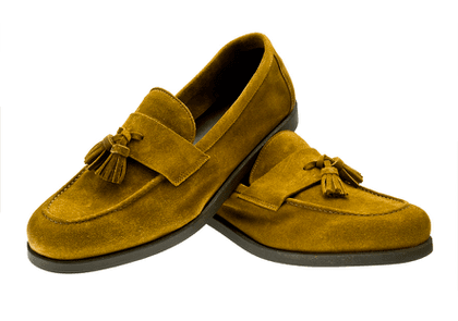 Brown Suede Tommy Tassel Loafers
