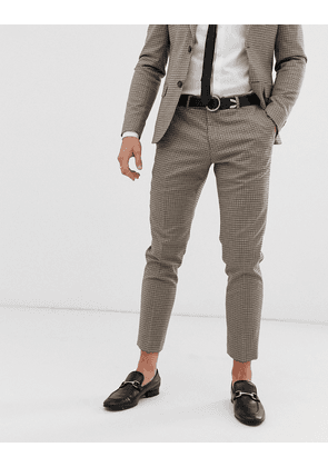 River Island wedding suit trousers in brown check