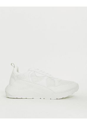 River Island chunky sole trainers in white