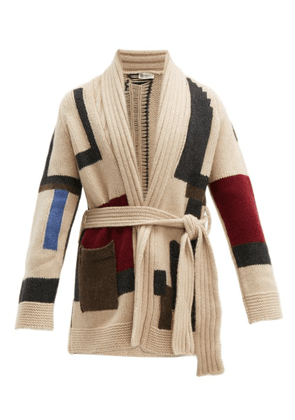 Connolly - Block Knit Cashmere Beach Cardigan - Mens - Beige