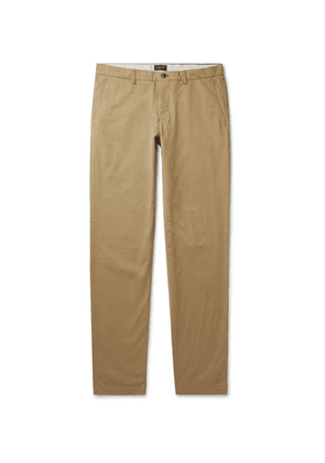 Club Monaco - Slim-fit Cotton-blend Twill Chinos - Sand