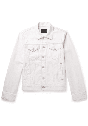 Club Monaco - Stretch-denim Trucker Jacket - Ivory