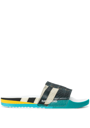 Adidas By Raf Simons faux lace-up slides - White