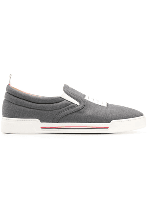 Thom Browne 4-bar Paper Label Slip-on Trainer - Grey