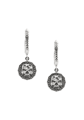 Emanuele Bicocchi Skull hoop drop earrings - Silver