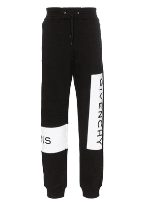 Givenchy logo embroidered sweatpants - Black
