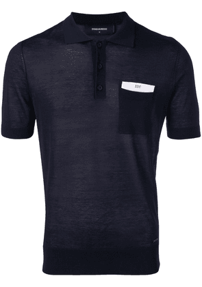 Dsquared2 chest pocket polo shirt - Blue