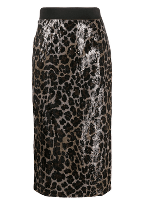 Antonio Marras sequined pencil skirt - Neutrals