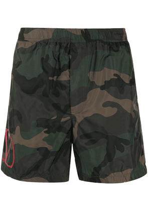 Valentino camouflage swim shorts - Brown
