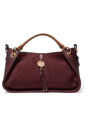 See By Chloé - Luce Leather And Suede Tote - Burgundy