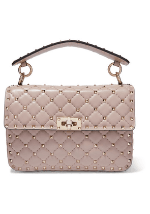 Valentino - Valentino Garavani The Rockstud Spike Medium Quilted Leather Shoulder Bag - Blush