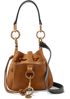 See By Chloé - Tony Small Textured-leather And Suede Bucket Bag - Tan