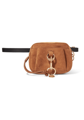 See By Chloé - Tony Textured-leather And Suede Belt Bag - Tan