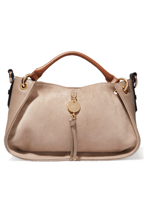 See By Chloé - Luce Leather And Suede Tote - Light gray