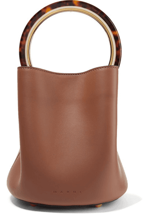 Marni - Pannier Leather Bucket Bag - Brown