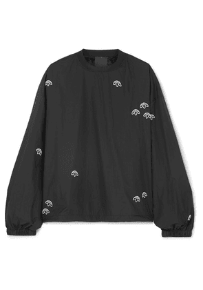 Adidas Originals By Alexander Wang - Embroidered Shell Sweatshirt - Black