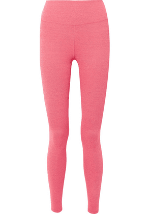 Heroine Sport - Rise Logo-embroidered Stretch Leggings - Coral